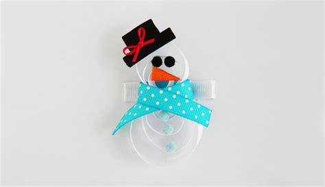 White Snowman Hairclip how to make a snowman hair clip 123craft