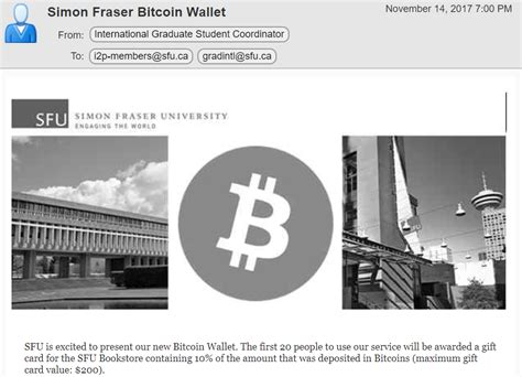 bitcoin legit sfu warns students staff of active bitcoin scam the peak