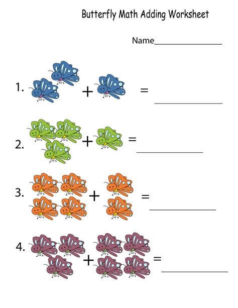 free printable math worksheets for kindergarteners free
