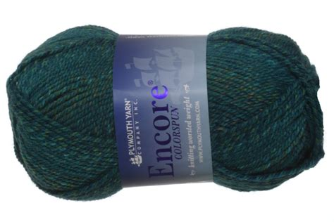 plymouth encore yarn sale plymouth encore worsted colorspun yarn 7765 turquoise at