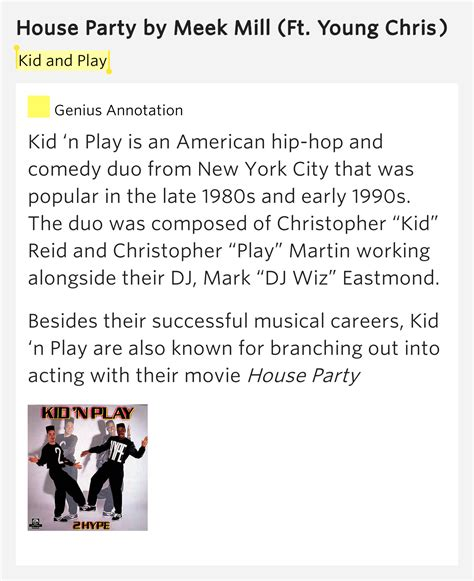 lyrics to house party kid and play house party lyrics meaning
