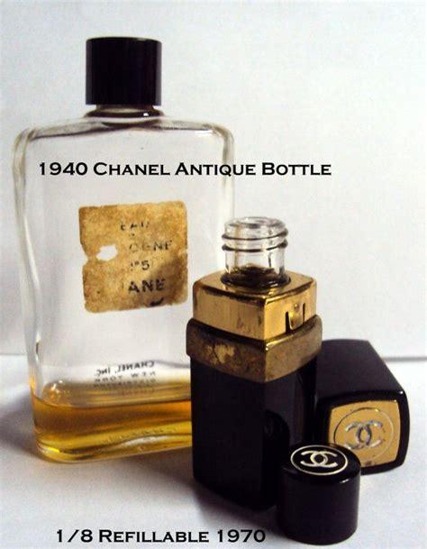 Parfum Coco Chanel No 5 vintage bottles 2 pc lot 1940 s chanel no 5 cologne