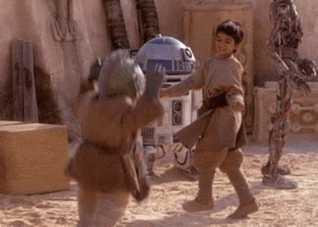 that awkward moment when a high five doesn't connect. : gifs