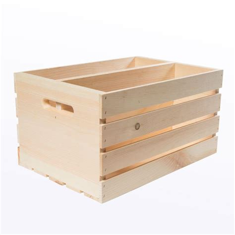 crates pallet 18 in x 12 5 in x 9 5 in divided wood