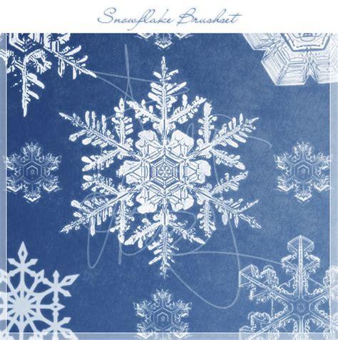 snow pattern brush snowflake brushes