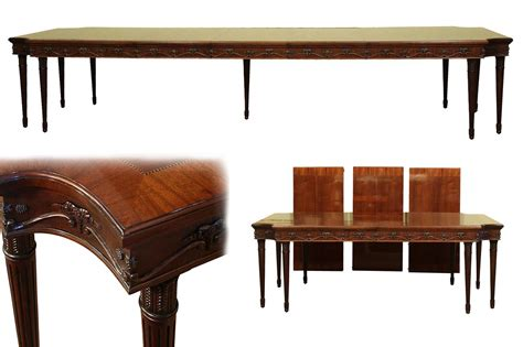 Dining Room Table Styles Style Neoclassical 8 Leg Mahogany Dining Table With 3 Leaves High End Ebay