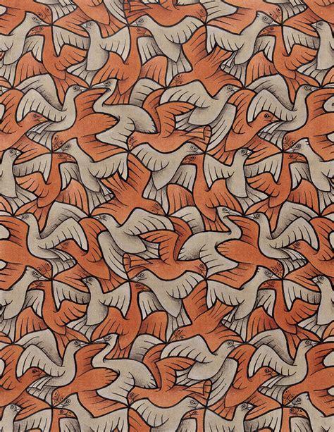m pattern in c tnl wall mc escher birds tessellations 885378 the naked