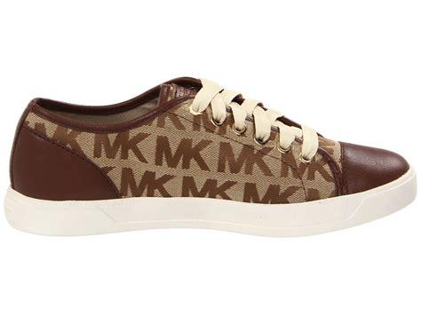 michael kors city sneakers michael michael kors mk city sneaker in brown lyst
