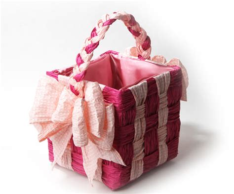 Craft Paper Basket - upcycling cardboard box turned into a paper twist basket