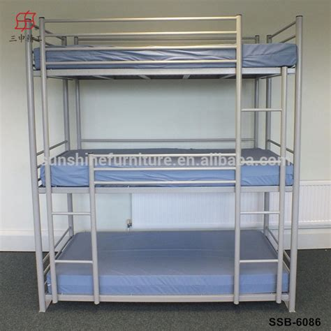 Heavy Duty Metal Bunk Beds Cheap Home Hotel School Heavy Duty Metal 3 Tier Bunk Bed Buy 3 Tier Bunk Bed Metal 3