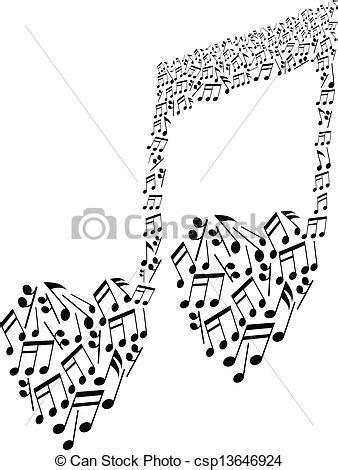 imagenes de notas musicales en forma de corazon coraz 243 n notas patr 243 n forma musical patr 243 n del coraz 243 n