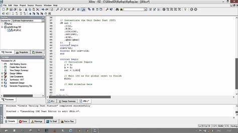 test bench verilog jk flip flop design in verilog with text bench 2dix