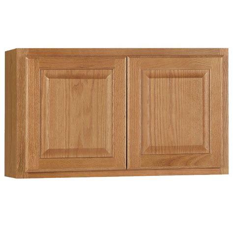 Hton Bay Hton Assembled 30x18x12 In Wall Bridge Medium Oak Kitchen Cabinets
