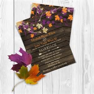 printable wedding invite templates printable wedding invitation template fall wedding