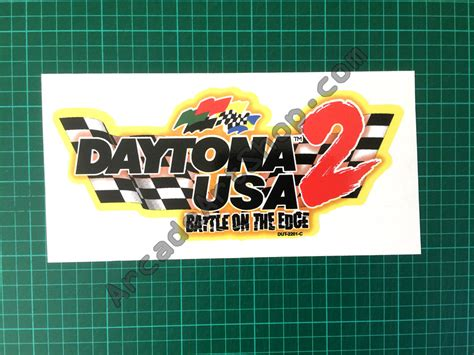 Daytona Logo 2 by Daytona Usa 2 Seat Decal Logo Arcade Shop