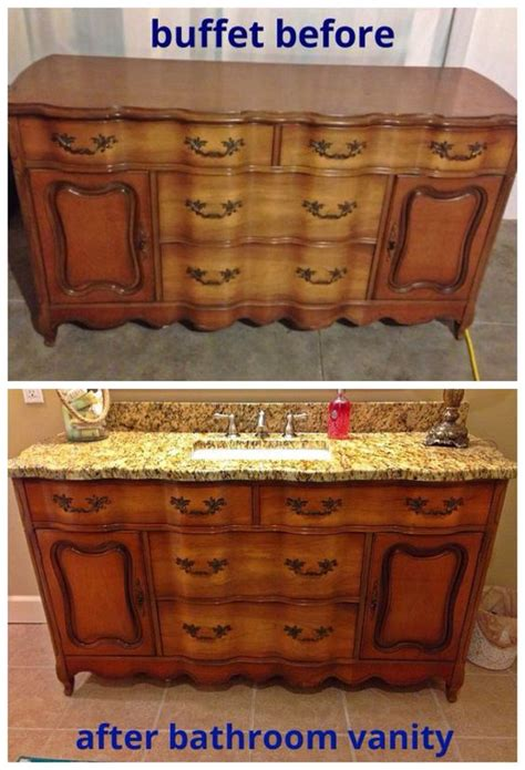 furniture turned into bathroom vanity i turned this buffet into a bathroom vanity upcycling
