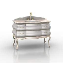 Kitchen Wash Basin Models 3d Sanitary Ware Wash Basin N200209 3d Model Gsm