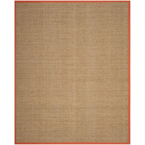 rugs 8 ft safavieh fiber rust 8 ft x 10 ft area rug nf114y 8 the home depot