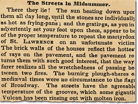 In The Heat Of The Essay by Heat Struck July 1852 Nytimes