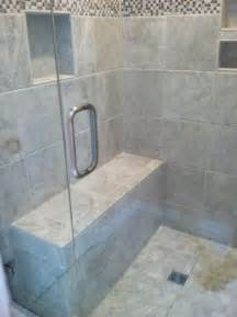 tile shower with bench bath remodel honey do handyman