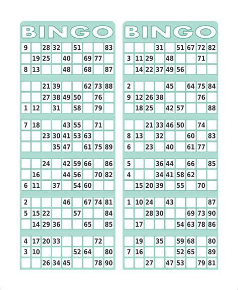 Printable Bingo Card Template by Free Printable Bingo Card 7 Free Pdf Documents