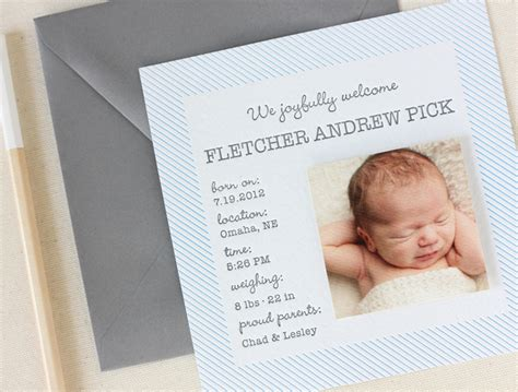 fletcher s simple and scented birth announcements