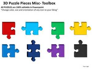 powerpoint puzzle pieces template 3d puzzle pieces misc powerpoint presentation templates