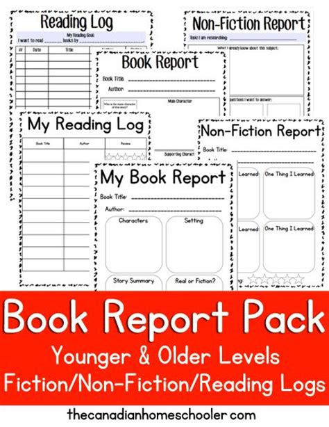 nonfiction book reports for middle school reading logs student and book reports on
