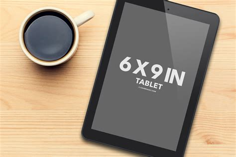 tablet template psd black tablet and coffee psd mockup covervault