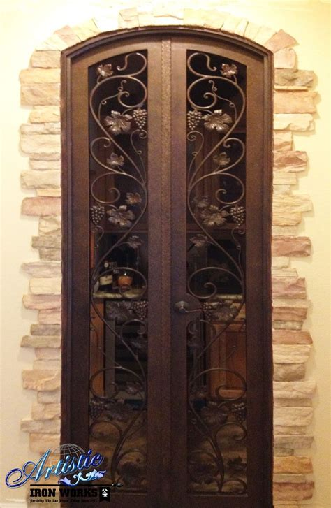 Wine Closet Doors Wrought Iron Wine Cellar Door Home Wine Closet