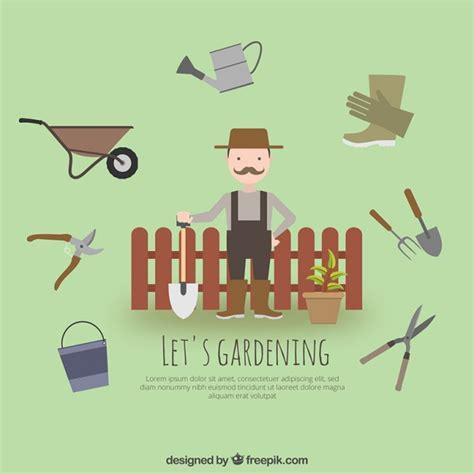 attrezzi da giardiniere giardiniere con attrezzi da giardino scaricare vettori