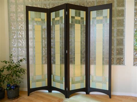 glass room divider stained glass room divider 4 panel screen riesling java