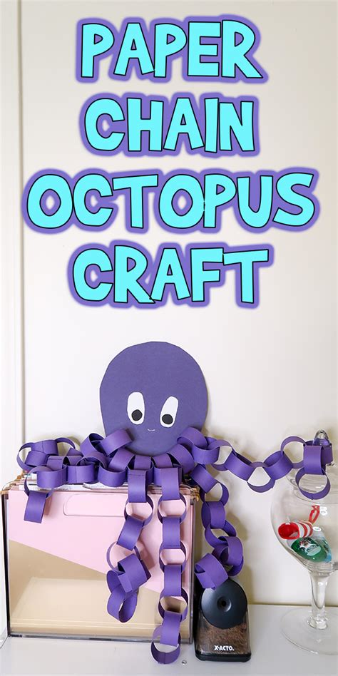 Paper Octopus Craft - easy paper chain octopus craft woo jr activities
