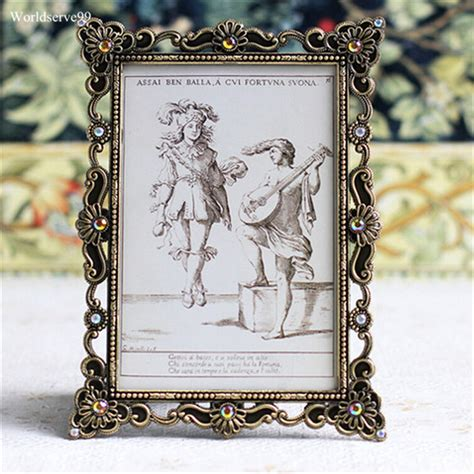 gifts and home decor 2016 vintage rhinestone wedding photo frames metal alloy
