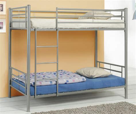 Silver Metal Bunk Beds Basic Silver Metal Bunk Bed