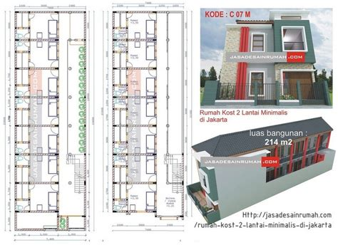 rumah kost  lantai minimalis  jakarta  jasa desain rumah desain rumah kost  lantai
