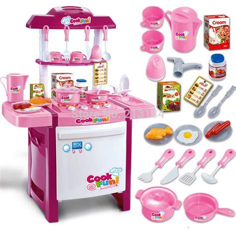 Promo Kitchen Set Koper 3 In 1 Pink Chef Mainan Masak Masakan 1 free shipping children kitchen model plastic kitchen simulation kitchen family play