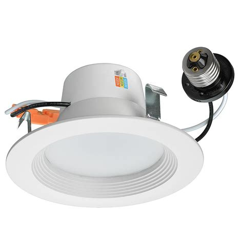 Lu Downlight 10 Watt halo 4 in matte white recessed led 3000k surface disk light with 80 cri sld405830whr the home