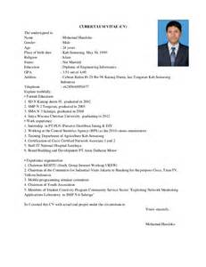 Curriculum Vitae English by Curriculum Vitae English