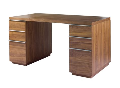 office desk walnut office desks tables dwell