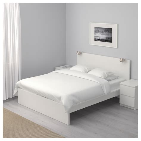 High Frame Bed Malm Bed Frame High White Lur 246 Y Standard Ikea