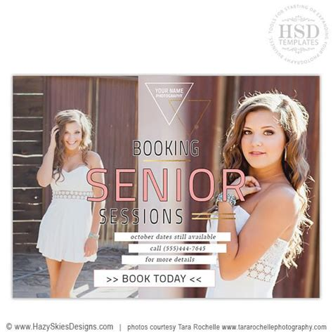 senior templates for photoshop senior marketing templates covergirl collection