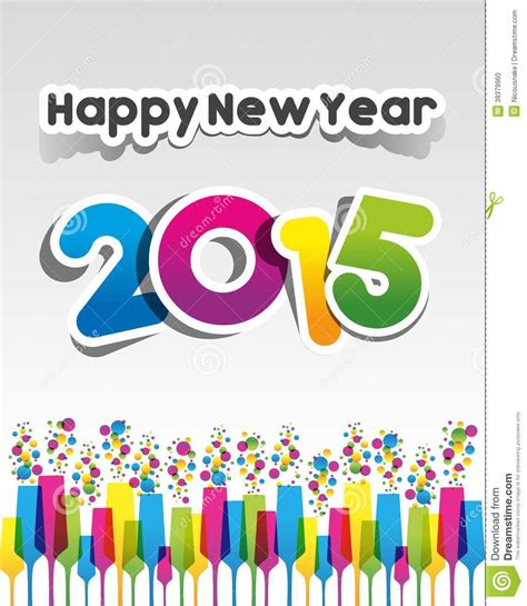 happy new year 2015 greeting card stock photo image