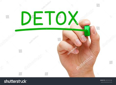 License For Detox by Writing Detox Green Marker On Stock Photo 263102144