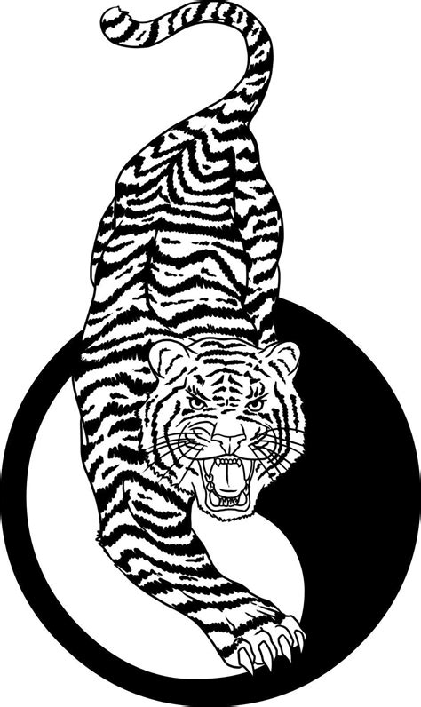 chinese tiger tattoo designs tiger and yin yang design