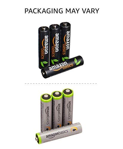 Amazonbasics Aaa by Amazonbasics Aaa High Capacity Rechargeable Batteries 4 Pack Import It All