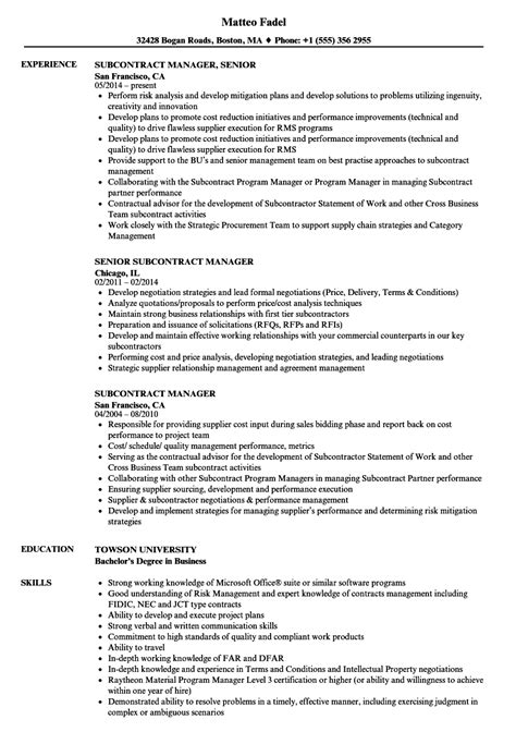 master subcontract agreement template comfortable subcontract template gallery exle resume