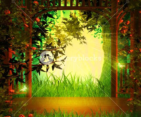 background pictures magic garden background wooden stage royalty free stock