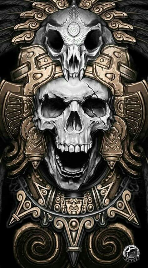 mayan skull warrior skulls pinterest tattoo