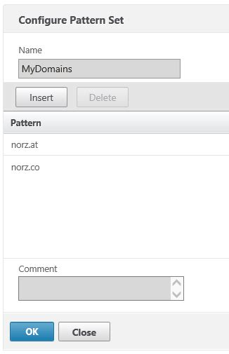 Netscaler Pattern Set | protect a dns server using a citrix netscaler